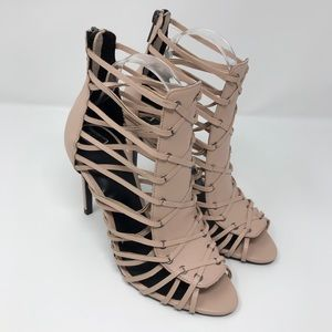 Like New ZARA Blush Gladiator Strappy Heels EU 38